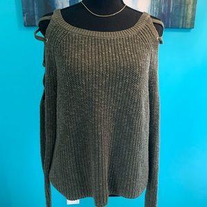 Express chunky green sweater